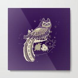 the grumpy owl Metal Print