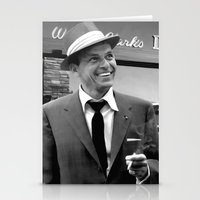 frank sinatra Stationery Cards featuring Frank Sinatra in Las Vegas by Gabriel T Toro