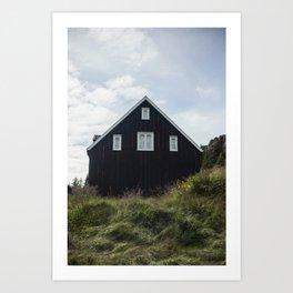 BLACK  HOUSE Art Print