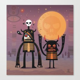 Moon catcher brothers  Canvas Print