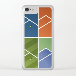 Tennis Courts Clear iPhone Case