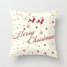 Merry Christmas.  Throw Pillow