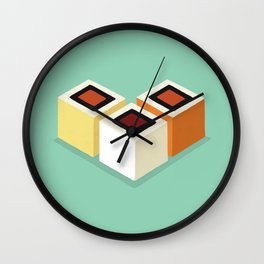 California Cubes Wall Clock