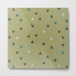 DOWN UP / olive green / seaweed / turquoise / aqua mint Metal Print