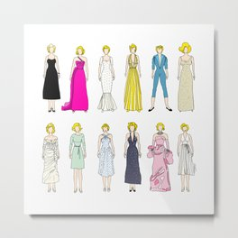Outfits of Marilyn Fashion (White) Metal Print