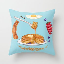 Pancake Mandala Throw Pillow