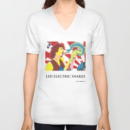 LSD Electric Snakes Unisex V-Neck