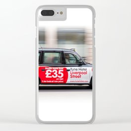 Taxi in London city Clear iPhone Case