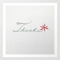 thanks [red*] Art Print