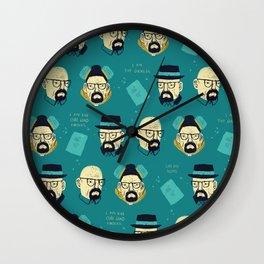 heisenberg pattern Wall Clock