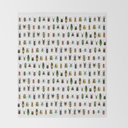 Magnificent Beetles Throw Blanket
