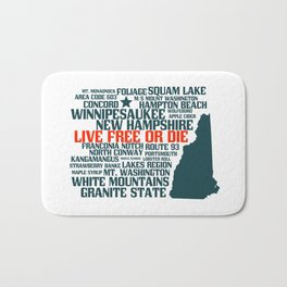 New Hampshire Live Free or Die Bath Mat