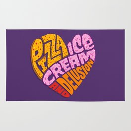 Pizza Ice Cream and Delusion Rug