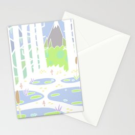 View from the swamp. Stationery Cards