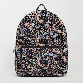 Fractured pastel flowers Backpack