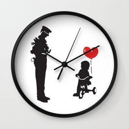 Banksy Policeman & girl on bike, Streetart Street Art, Grafitti, Artwork, Design For Men, Women, Kid Wall Clock
