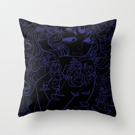 Ghost Fungi - Black Out version Throw Pillow