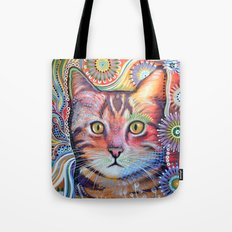 Olivia ... abstract cat art Tote Bag
