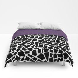 British Mosaic Purple Boarder Comforters