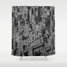 The Fantasy City. Urban Landscape Illustration. Shower Curtain