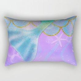 Mermaid Iridescent Shimmer Rectangular Pillow