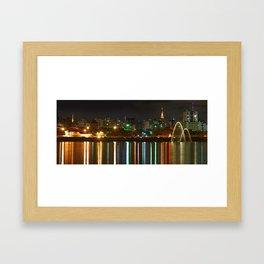 Ibirapuera Park by Night - Sao Paulo - Brazil Framed Art Print