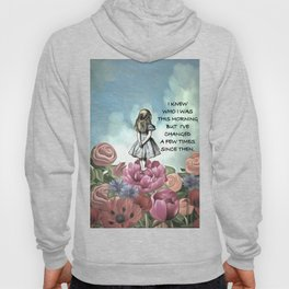 Wondering Alice - Alice In Wonderland Quote Hoody