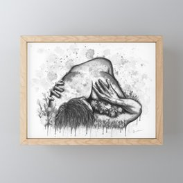 Erotic Spring b&w Framed Mini Art Print