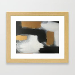 modern gold life Framed Art Print