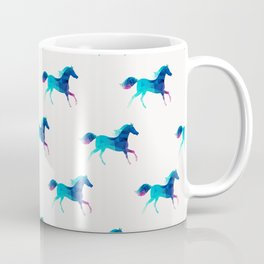 blue horse pattern Coffee Mug