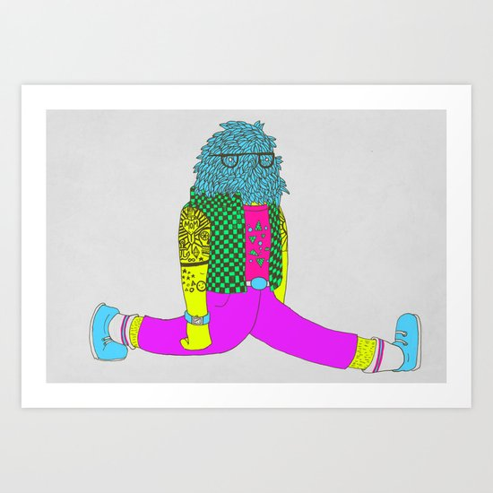 I can do the splits Art Print