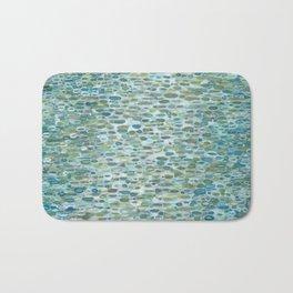 Blue Raindrops Juul art Bath Mat