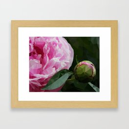 Low Poly Pink Framed Art Print