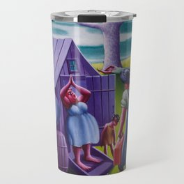 African-American 1940 Classical Masterpiece 'Lawd Mah Man's Leavin'' by Archibald Motley Travel Mug