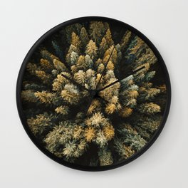 pine forest in the north cascades Wall Clock