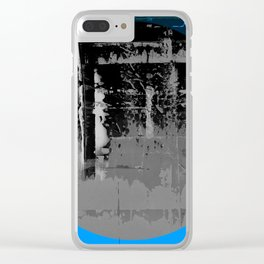 Color Chrome - B/W graphic Clear iPhone Case