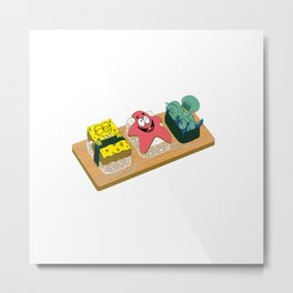 Spongebob Sushi Metal Print
