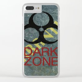 Dark Zone Wall Clear iPhone Case