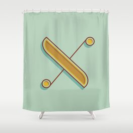 Alphabet Drop Caps Series- X Shower Curtain