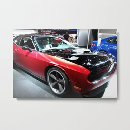 2014 Auto Show Prototype Scat Pack Two Tone Challenger with shaker hood Metal Print