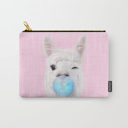 BUBBLE GUM LLAMA Carry-All Pouch