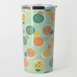 Positive Voice Affirmation Pattern Travel Mug