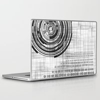 data Laptop & iPad Skins featuring Techno data ring #1 by Juliana RW