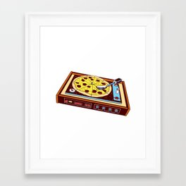 Pizza Beats Framed Art Print