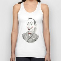 "pee wee Tank Tops featuring ""Portrait of Pee-wee Herman"" by Edward Cao"