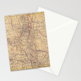 Colorado Vintage Map Stationery Cards