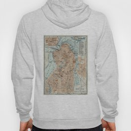 Vintage Map of Boston MA (1906) 2 Hoody
