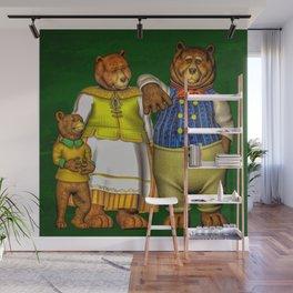 The Three Bears Wall Mural