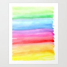 Watercolour Rainbow Art Print