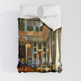 Castle and space in Photo Art Comforters
